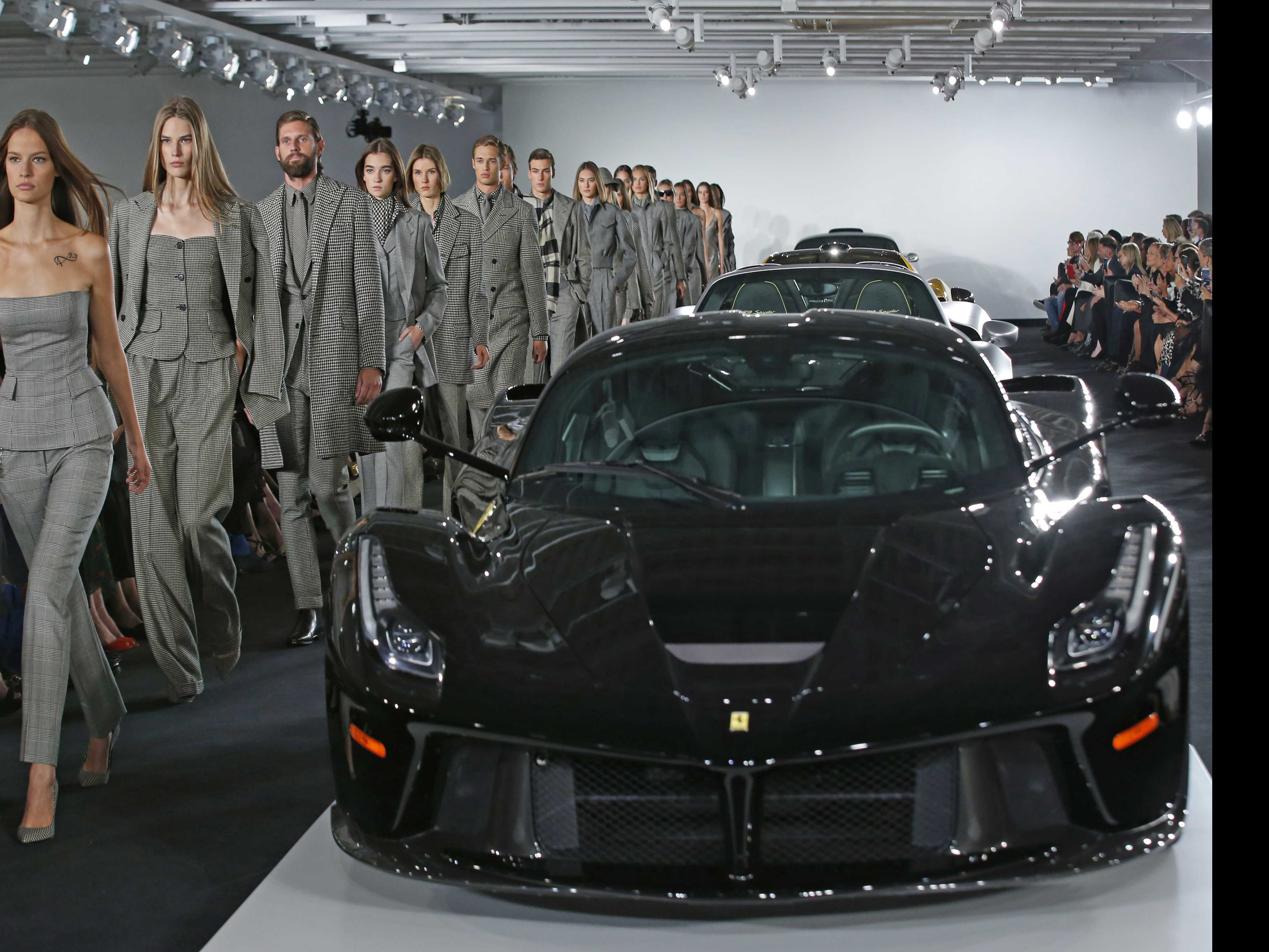 Ralph Lauren Channels 007 in Opulent Show with Vintage Cars