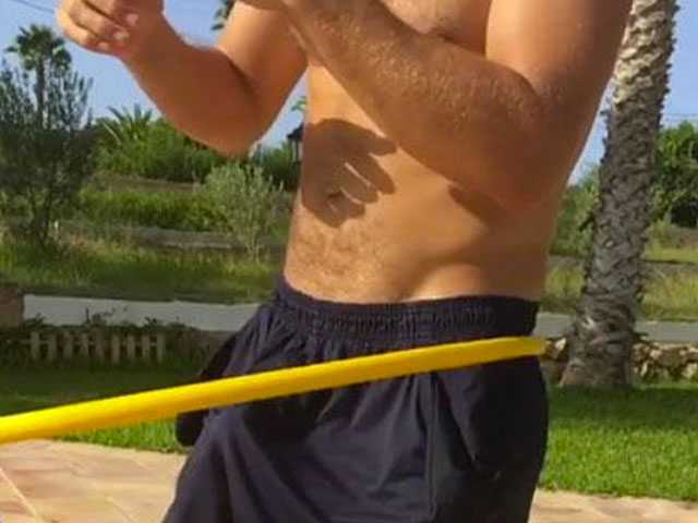 Hula Hooping Spanish Man Turns Heads for Apparent Reason