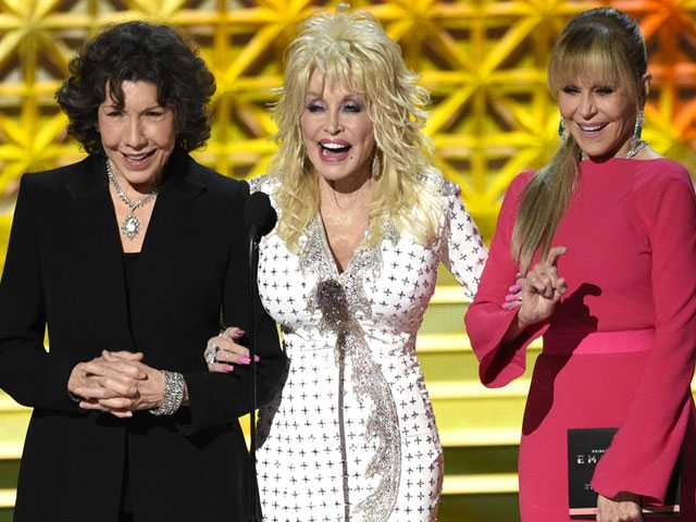 Emmy Audience Adores Parton, Fonda and Tomlin Emmy Reunion