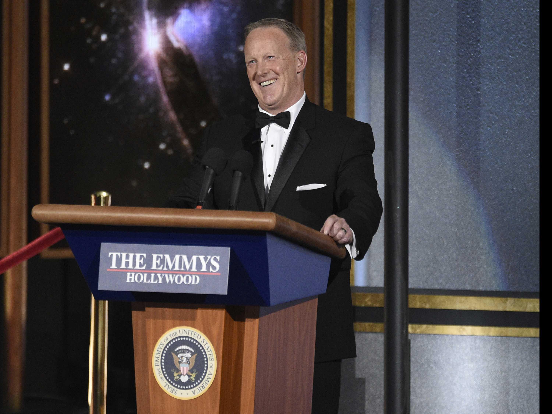 Spicer Suggests Critics of Emmy Appearance Should Lighten Up