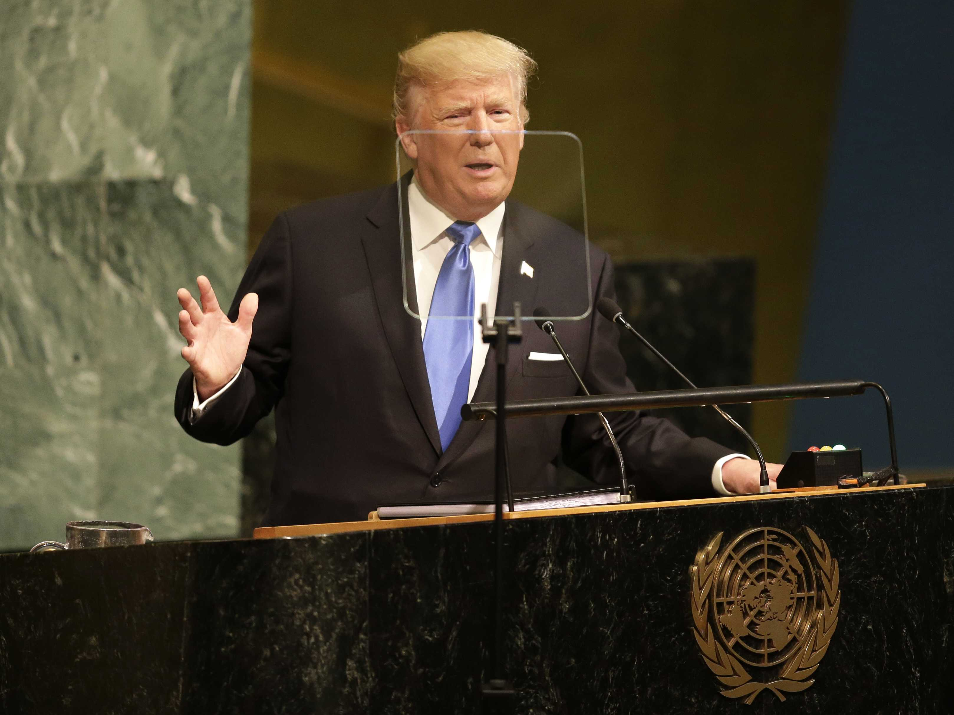 At UN, Trump Threatens 'Total Destruction' of North Korea