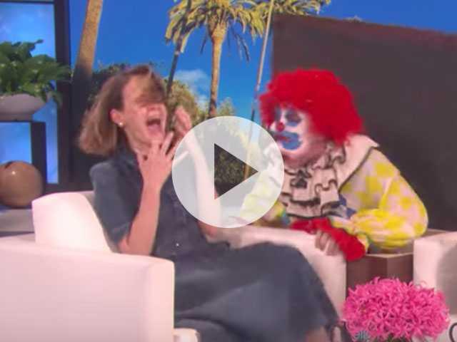 Watch: Ellen Freaks Out Sarah Paulson with... Clowns