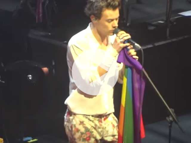 Watch: Harry Styles Kicks Off Solo Tour by Waving LGBTQ Pride Flag
