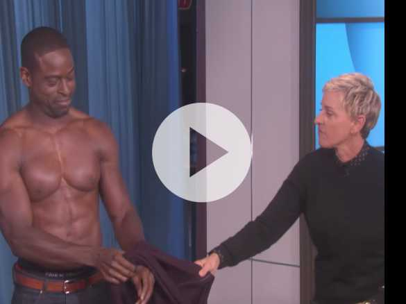 Watch: 'This Is Us' Star Sterling K. Brown Strips Down for 'Ellen'