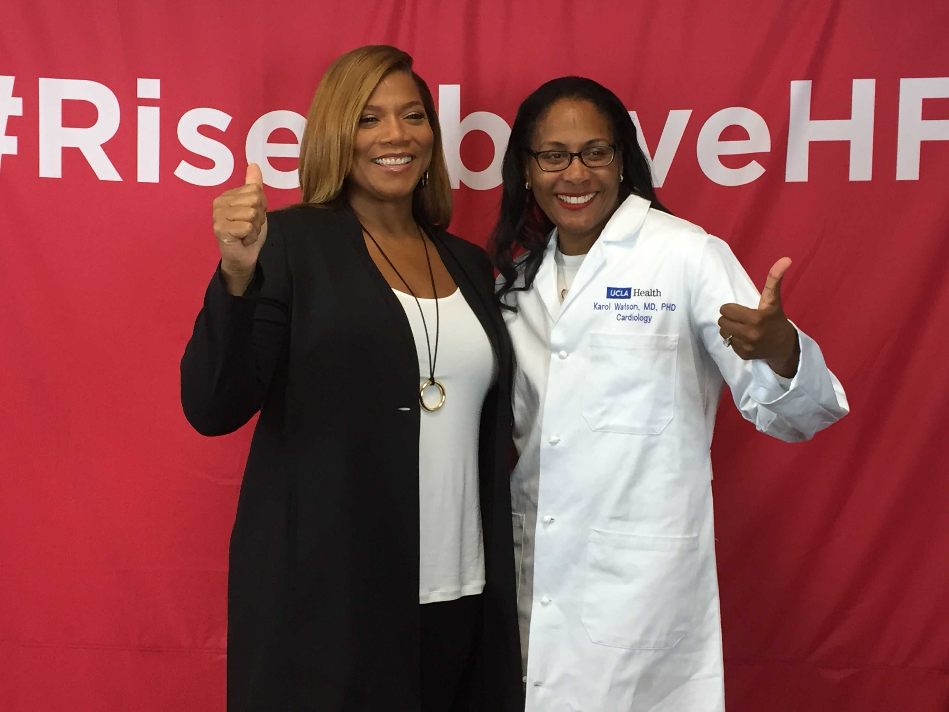 Queen Latifah Helps Launch WomenHeart's Rise Above Heart Failure Campaign