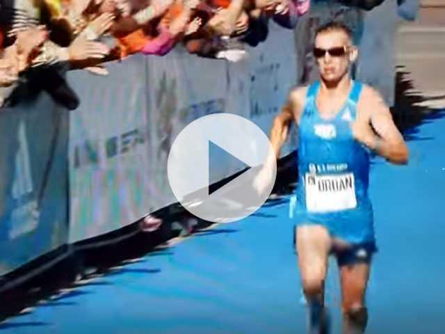 Watch: Marathon Runner has Epic Wardrobe Malfunction (NSFW)
