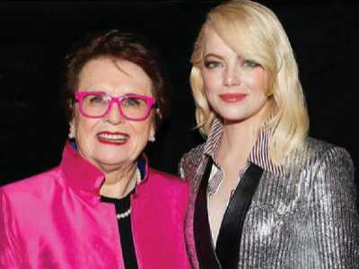 'The Battle of the Sexes' :: Billie Jean King and Emma Stone Winning the Game