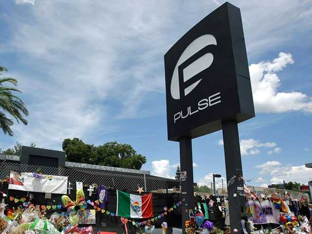 Crews Finish Rainbow Crosswalk Near Pulse Gay Club in Orlando