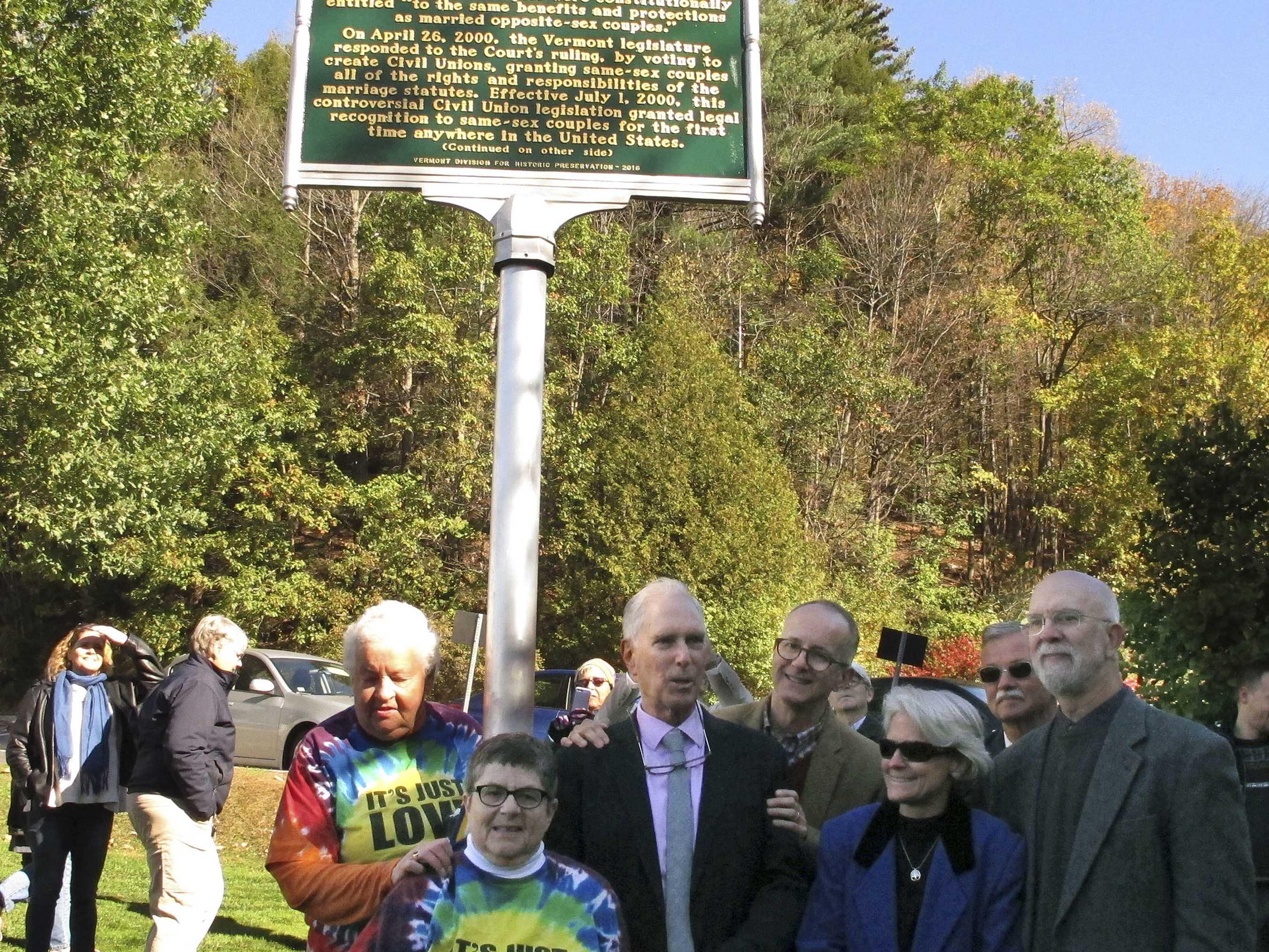 Vermont Commemorates Civil Unions with Historic Site Marker