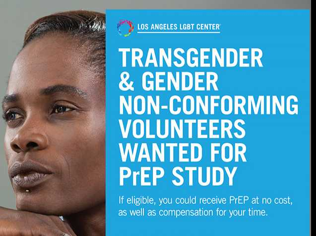 LA LGBT Center Seeks Trans & Gender Non-Conforming Volunteers for PrEP Study