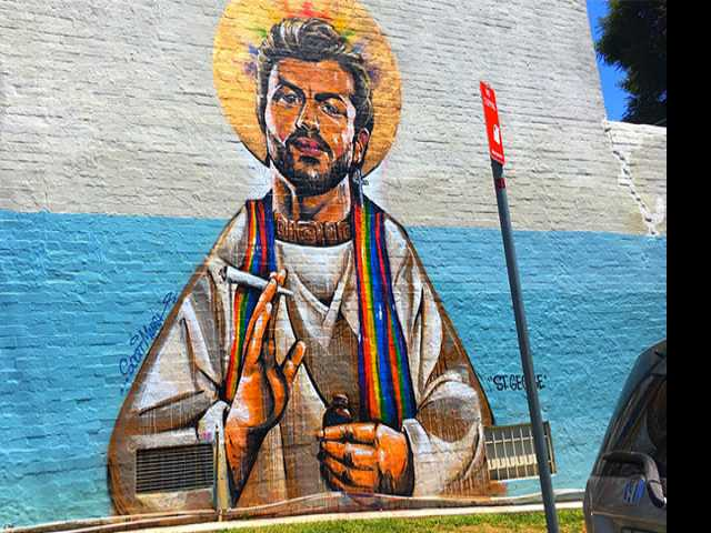Australian George Michael Mural Vandalized with Anti-LGBT Slurs