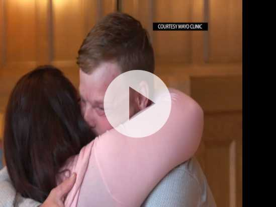 Tearful Meeting for 2 Linked by Face Transplant