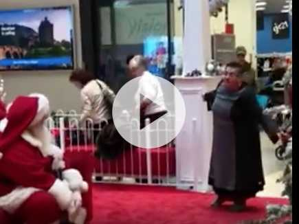 Watch: Grown Woman Freaks Out on Shopping Mall Santa, 'You're Not Magic!'