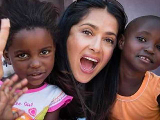 Salma Hayek Pinault is Global Patron of mothers2mothers