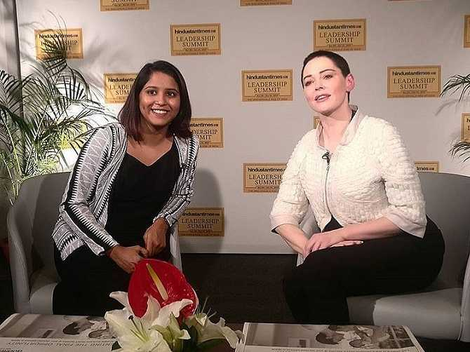 Rose McGowan Speaks at HT Leadership Summit in India