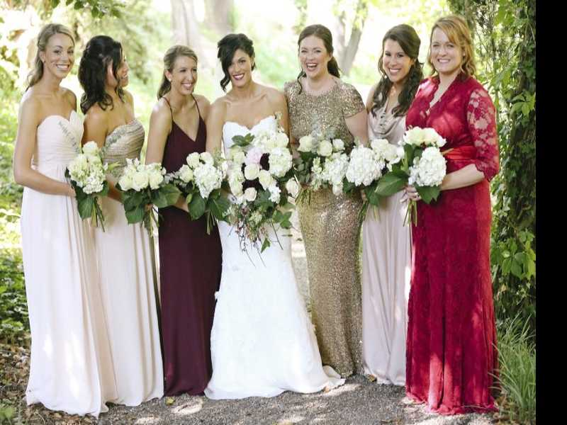 More Brides Leaving the Matchy-Matchy Bridal Parties Behind