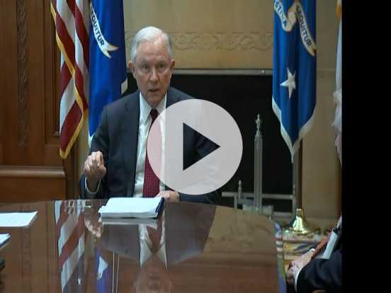 Sessions Holds Drug Policy Roundtable at DOJ