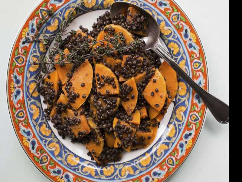 Recipe: Black Lentils and Butternut Squash