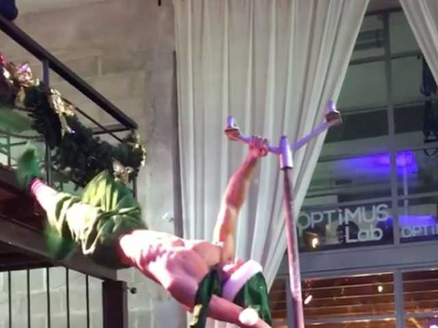 Watch: Italian Pole Dancer Gets Naughty for Christmas Themed Performance