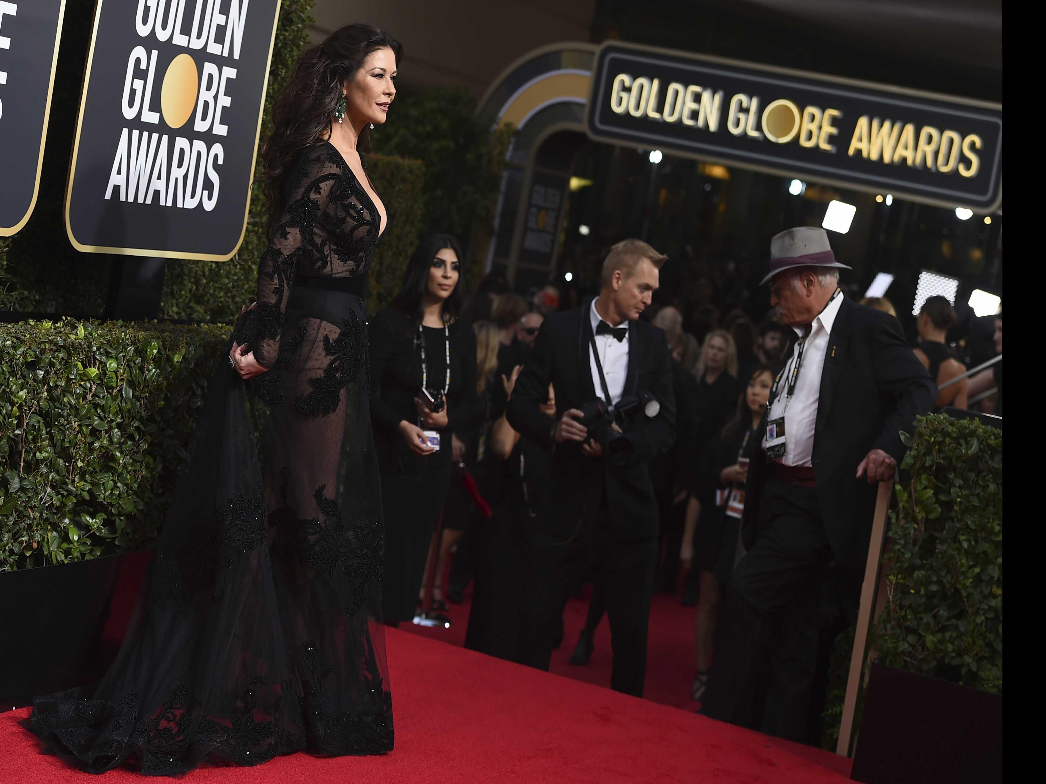 Black Dresses Dominate Golden Globes Red Carpet