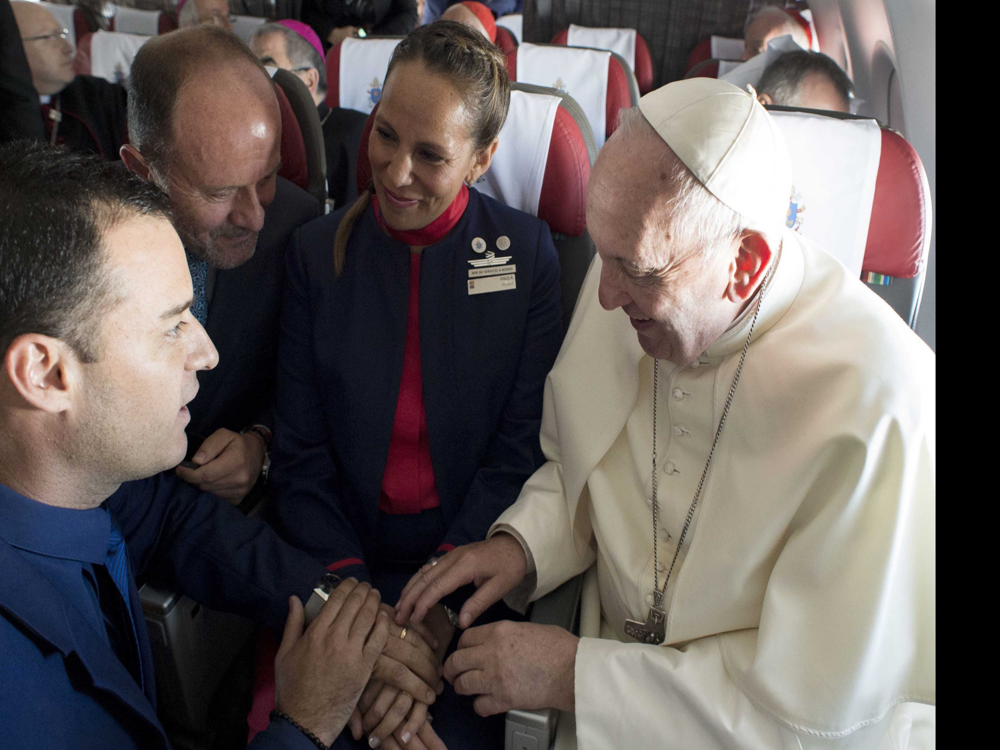 Church Conservatives Question Pope's Airborne Nuptials