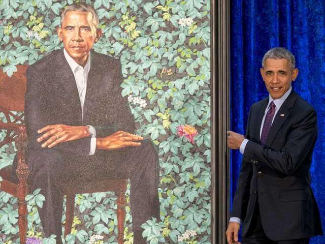 National Portrait Gallery Unveils Obama Portraits