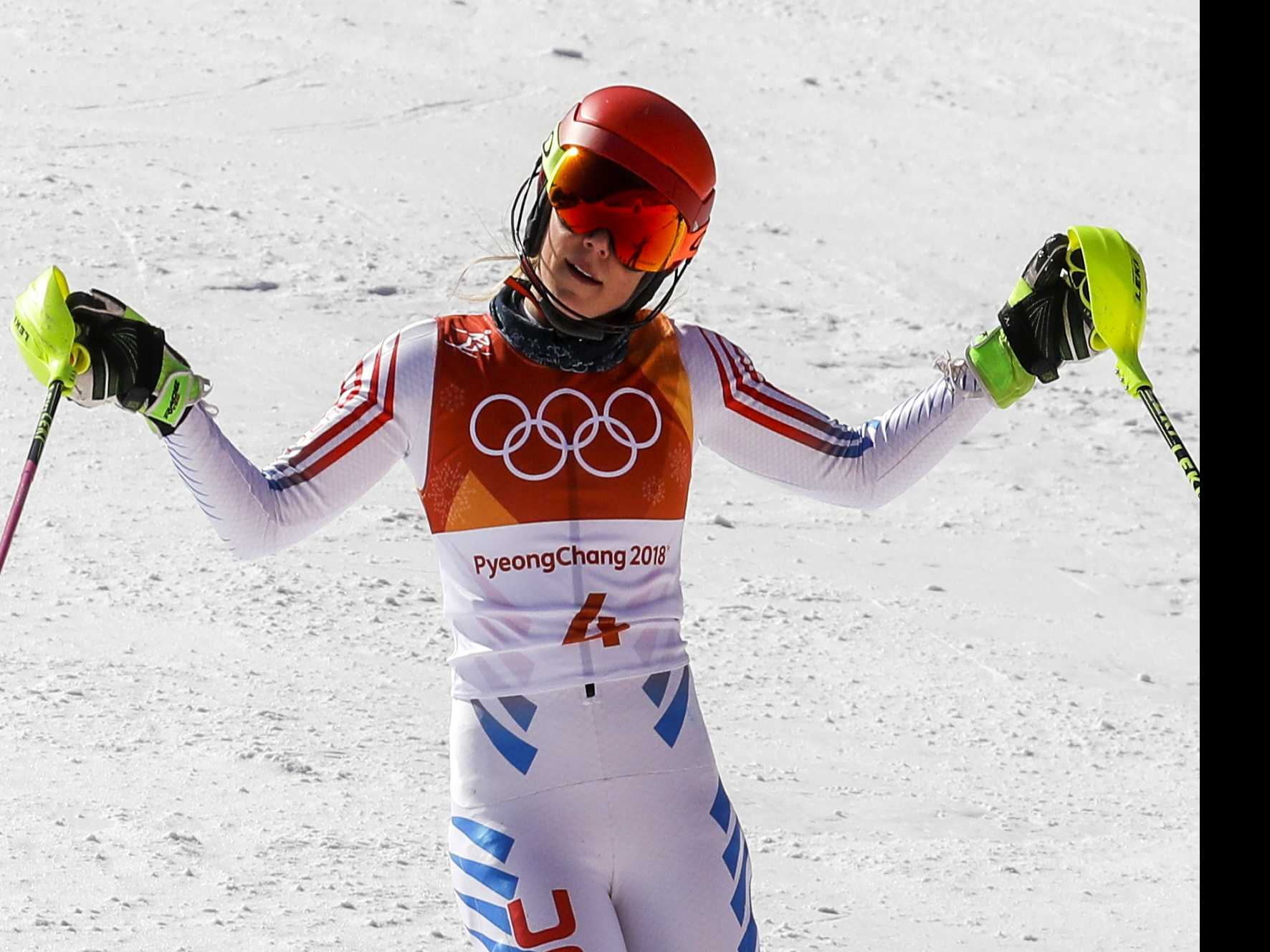 2014 Champ Shiffrin 4th Behind Hansdotter in Olympic Slalom