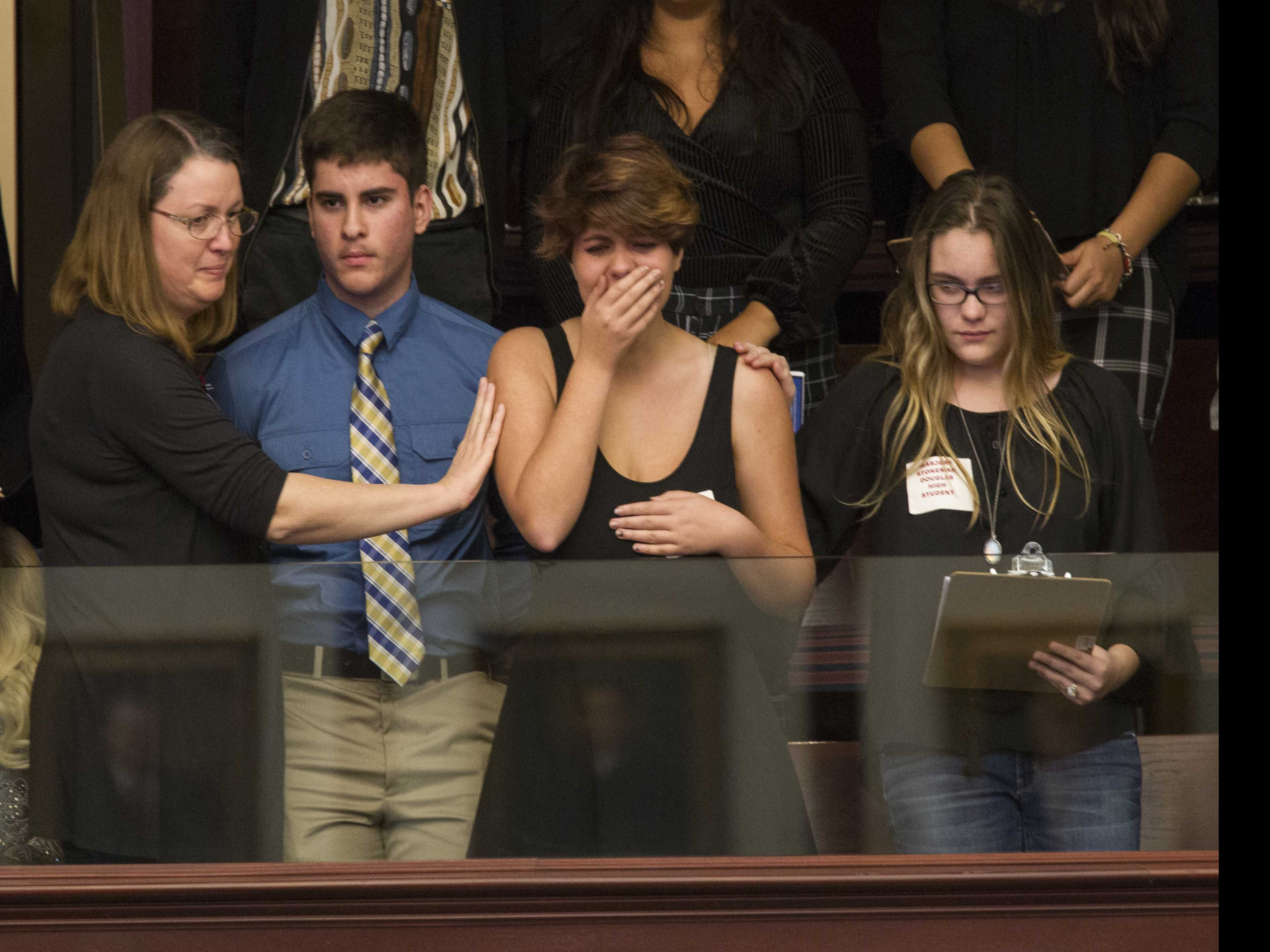 Florida Shooting Survivors in Capital, Demand Action on Guns