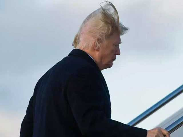 Trump Says He Goes to Great Lengths to Hide His Bald Spot