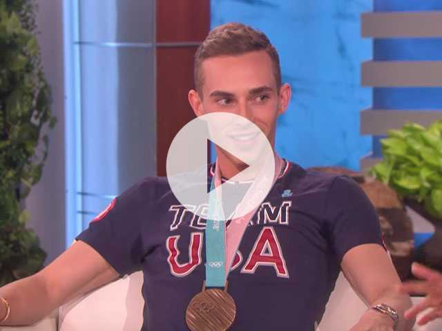 Watch: Adam Rippon Stops by 'Ellen,' Talks Olympics, Pence and Celeb Crushes