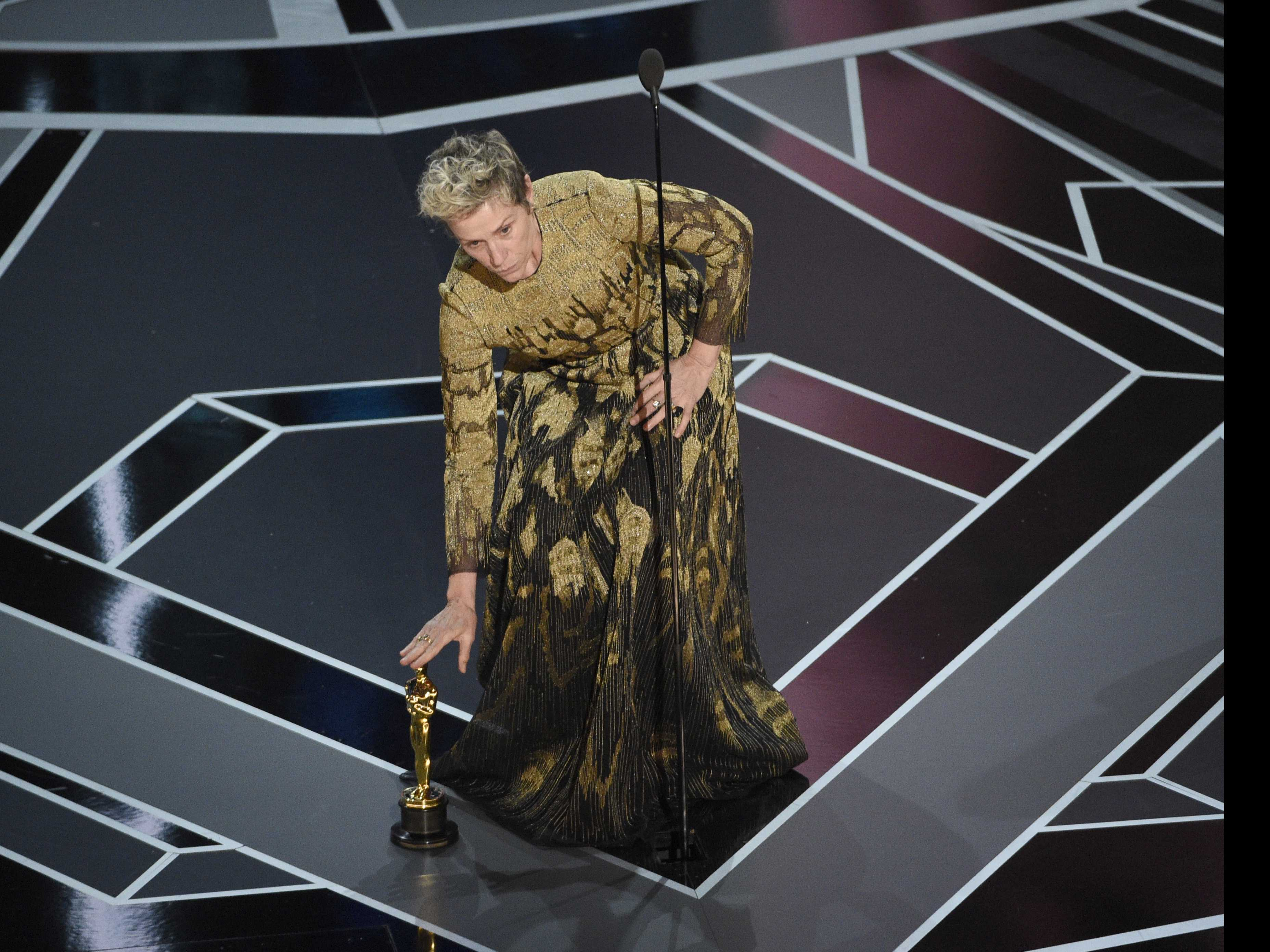 Man Arrested, Accused of Stealing McDormand's Oscar Trophy