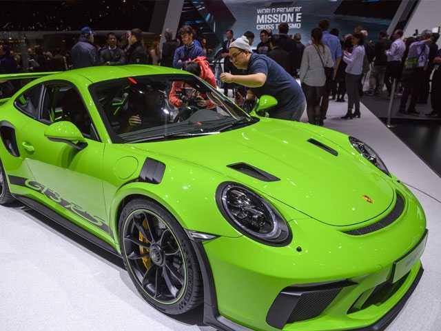High-End Sports Cars Gleam At Geneva Auto Show. Bring Money