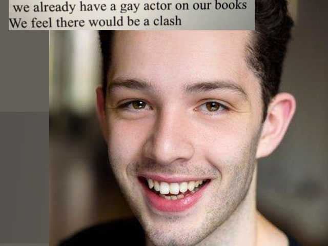 UK Actor Shares Agency's Rejection Letter: 'We Already Have a Gay Actor'
