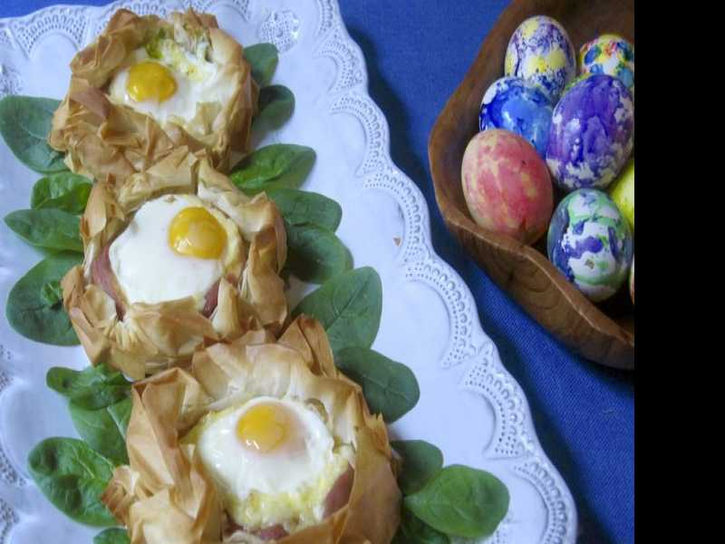 Recipe: Baked Eggs in Phyllo Nest
