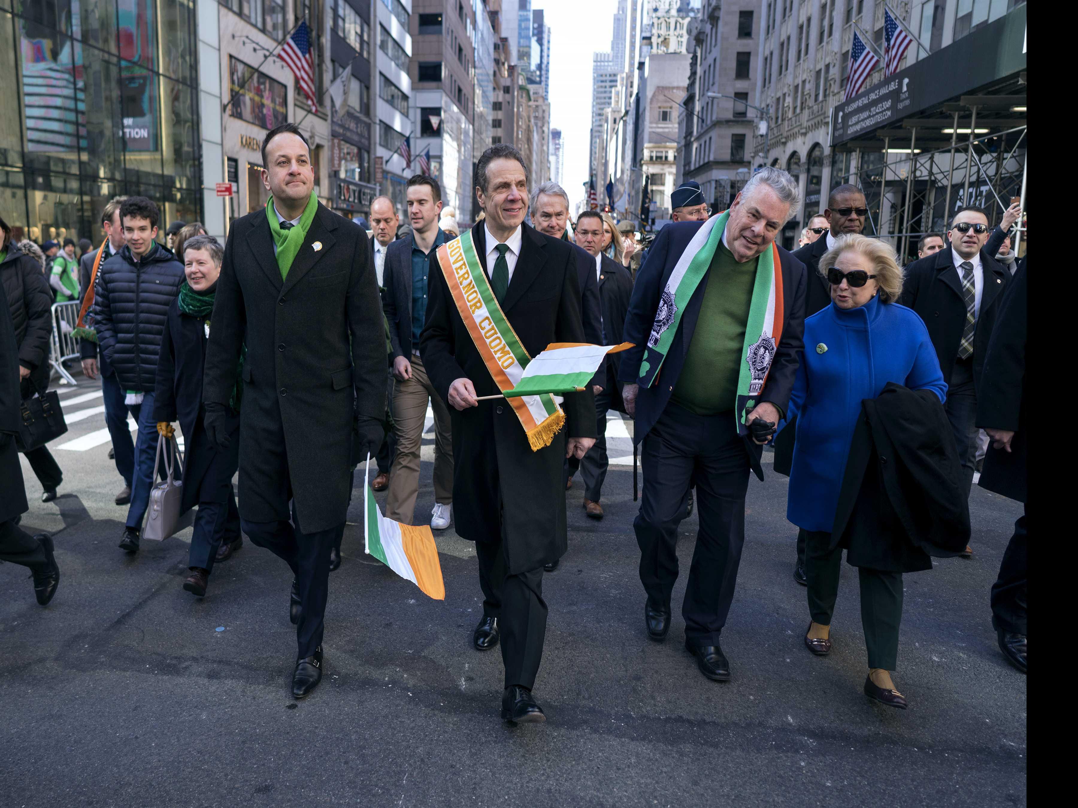 Irish Prime Minister Leo Varadkar Joins St. Patrick's Parade