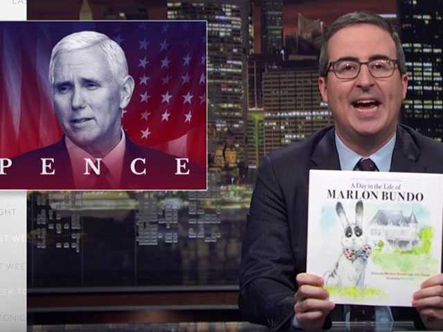 Watch: John Oliver Spoofs Pence Picture Book About Bunny