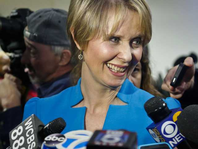 Cynthia Nixon Takes Aim at Cuomo in 1st Campaign Event