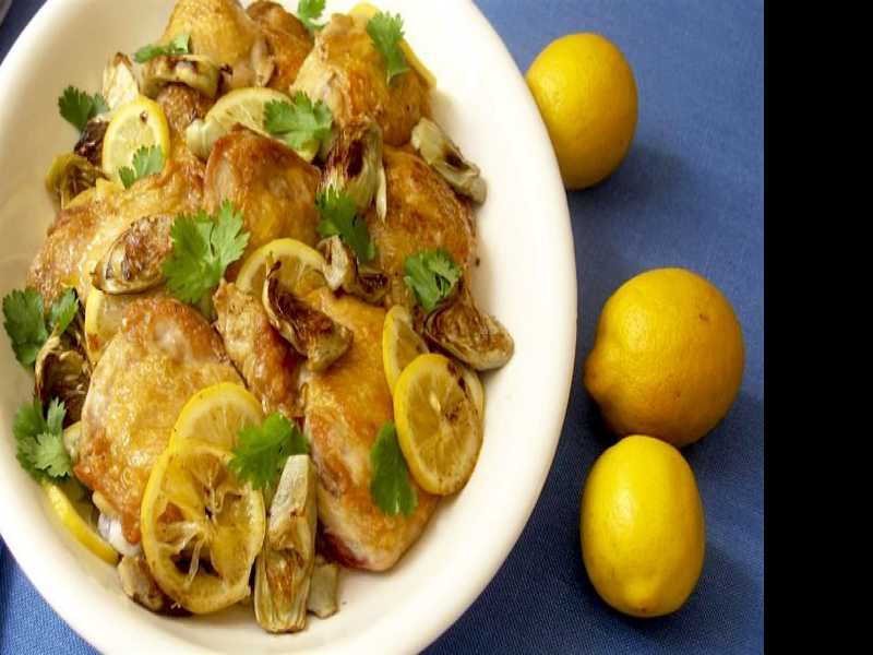 Recipe: Baked Chicken with Lemon Pickles