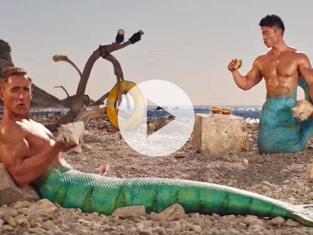 Watch: Gorton's Enlists Hunky Mermen to Sell Seafood
