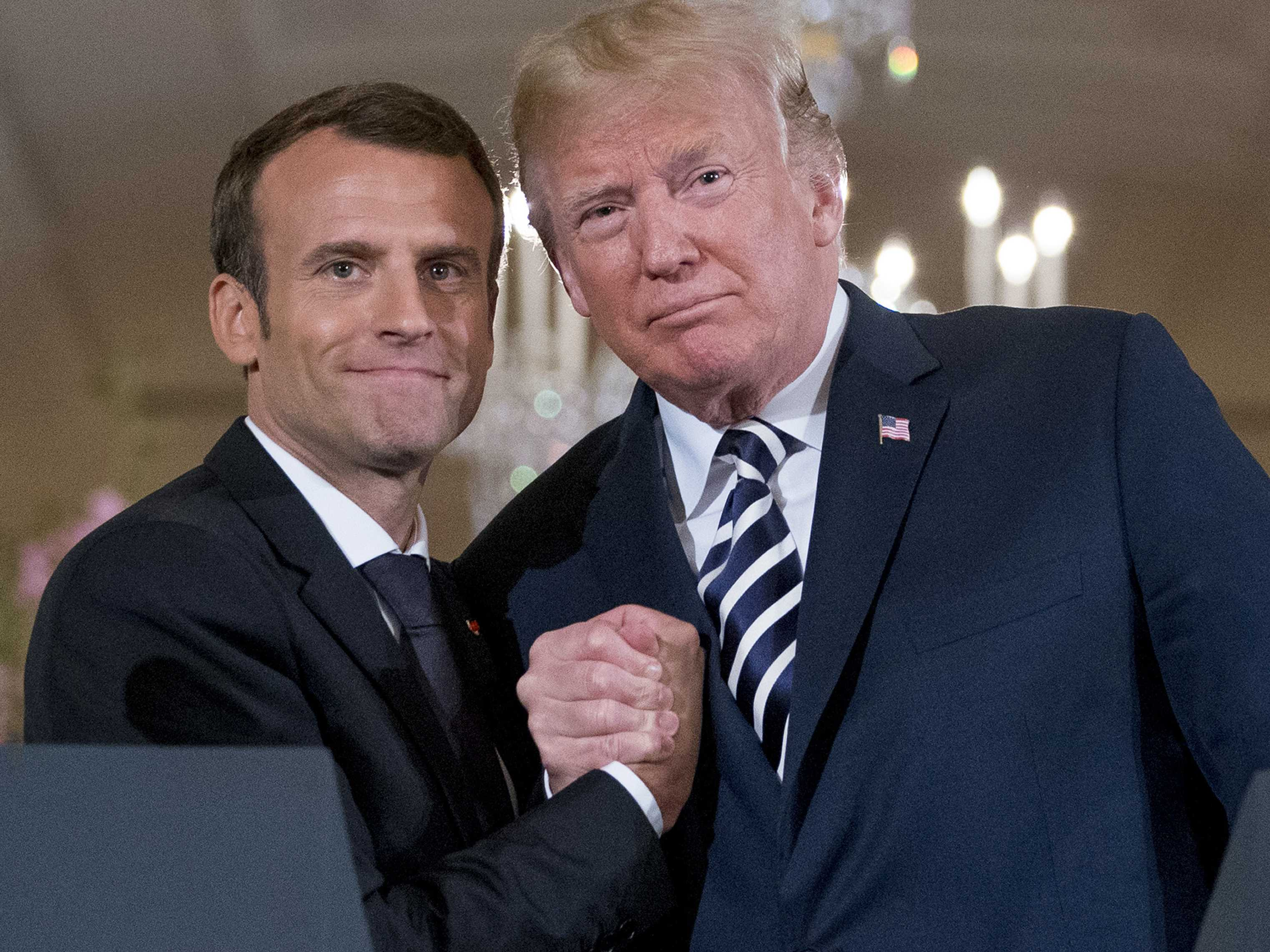 Handshakes and Kisses Aside, Some Issues Split Trump, Macron