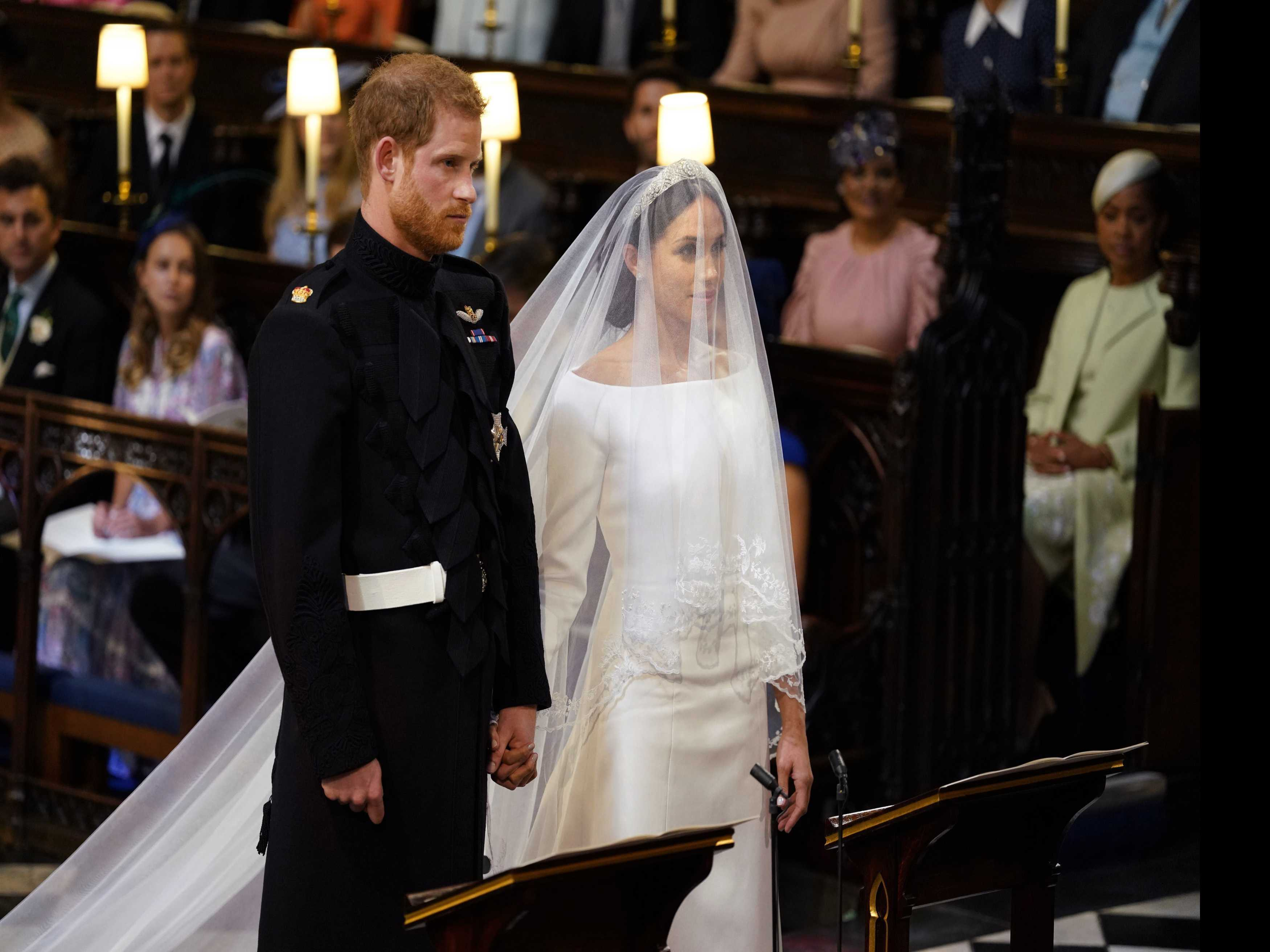 Prince Harry, Meghan Markle Smile with Joy at the Altar