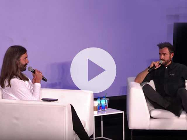 Watch: 'Queer Eye' Star Jonathan Van Ness Has Hilarious Reaction to Justin Theroux's Wild Back Tattoo