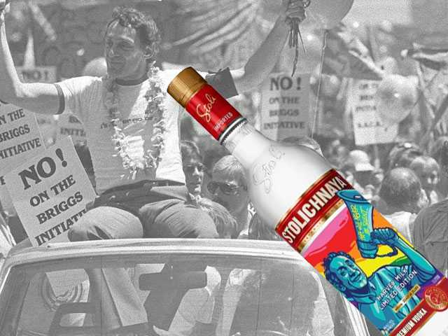 Stoli Vodka Launches Harvey Milk Inspired Bottle