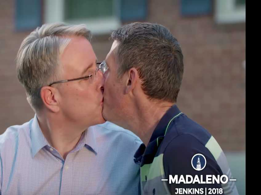 Watch: Gay Maryland Candidate Kisses Spouse in Ad Aimed at Trump