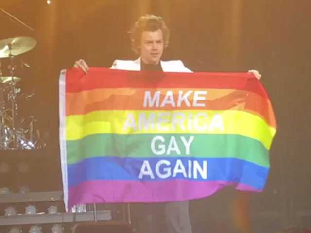 Watch: Harry Styles Celebrates Pride, Wants to 'Make America Gay Again'