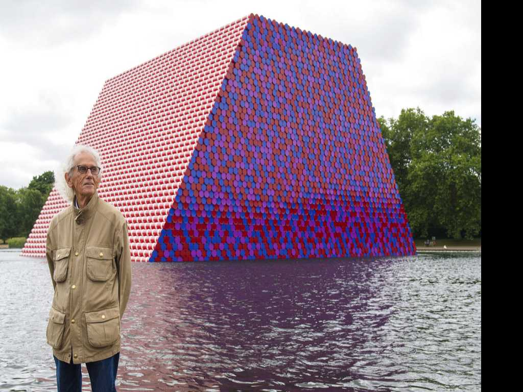 Roll Out the Barrel: Christo Artwork Floats on London Lake