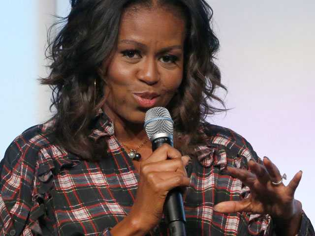 Michelle Obama Discusses New Memoir at Library Conference