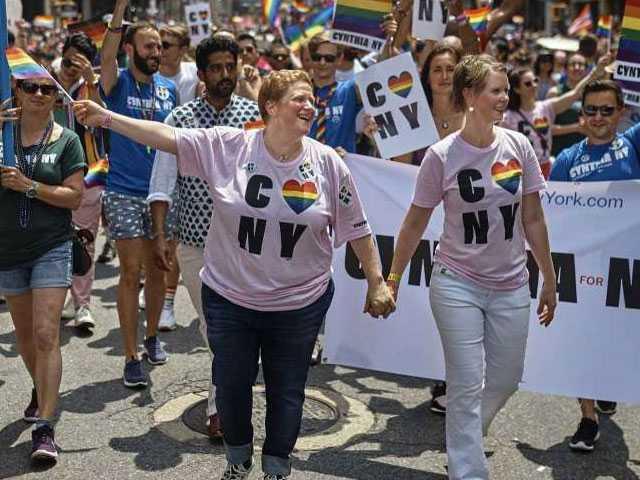 Celebration, Defiance Mix at New York City Gay Pride Parade