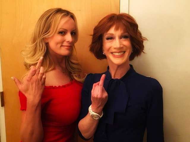 Kathy Griffin and Stormy Daniels Team Up to Give Trump the Finger