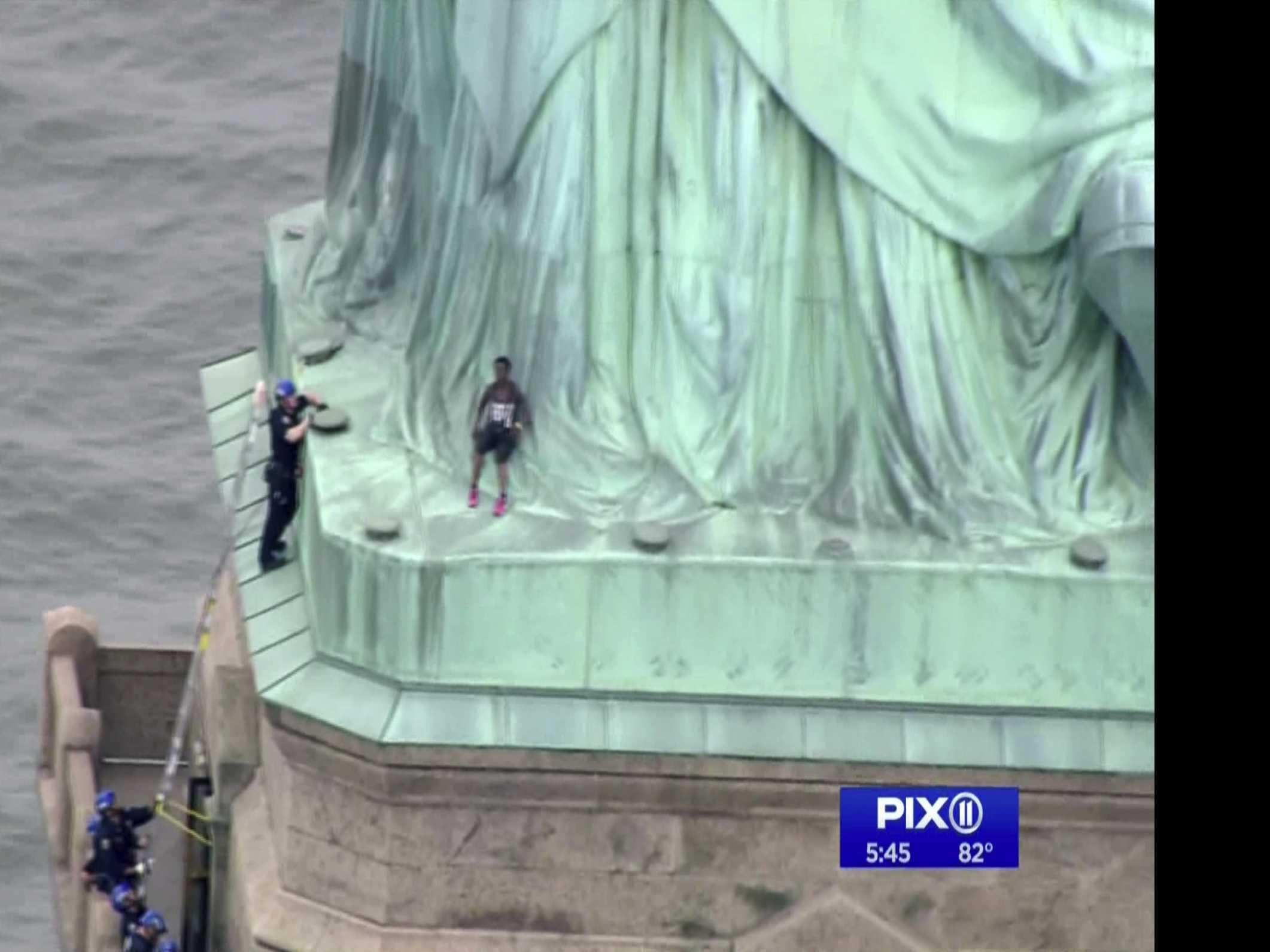 Statue Of Liberty Climber Awaits Court Appearance